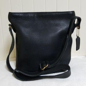 Coach Black Pebble Leather Bucket Bag